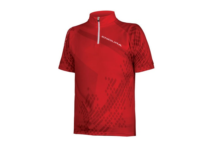 ENDURA Kids Ray S/S Jersey Red click to zoom image